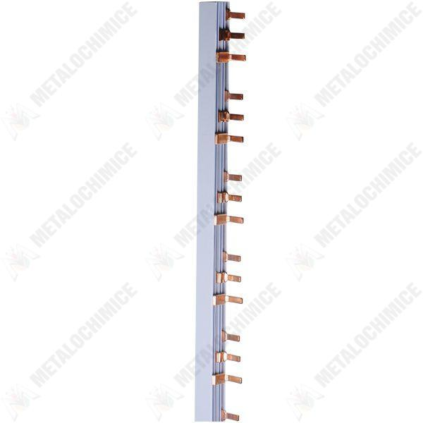 Pachet 3 bucati - Bara tripolara, Tip pieptene, Pentru tablou de siguranta, 3x1M
