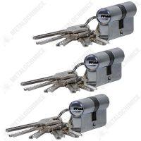 pachet 3 bucati butuc pentru usa egal cu 5 chei in amprenta 60mm