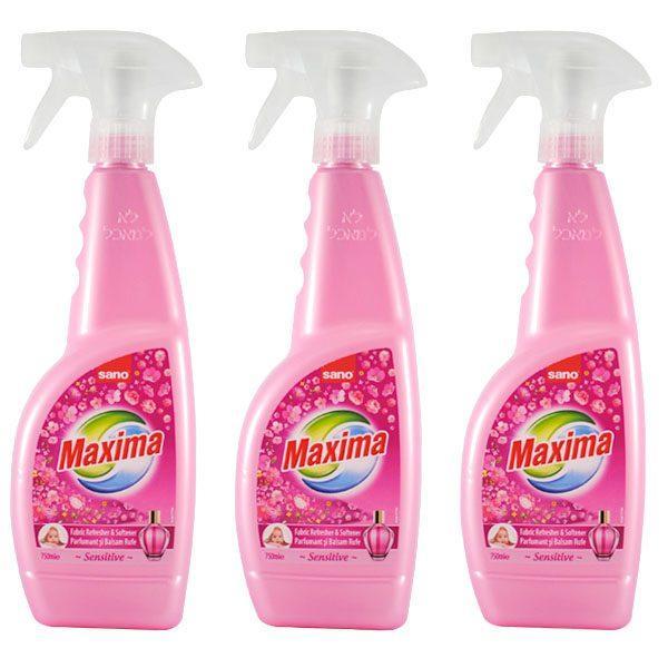 Pachet 3 bucati - Sano Maxima Sensitive, Balsam pentru rufe parfumat cu pulverizator, 3 x 750 ml