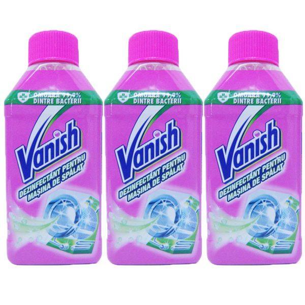 Pachet 3 bucati - Vanish, Dezinfectant pentru masina spalat, 3 x 250ml