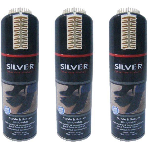 Pachet 3 bucati - Vopsea Spray, Neagra, Pentru piele intoarsa, 200 ml