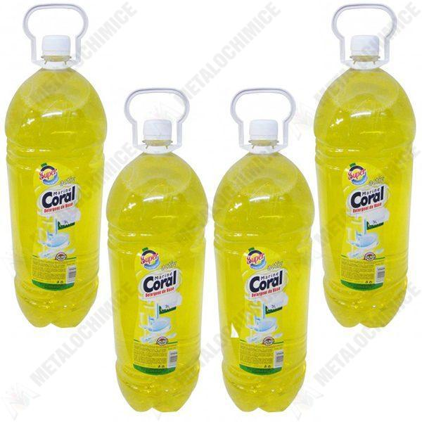pachet 4 bucati detergent de vase marine coral lamaie 3 l