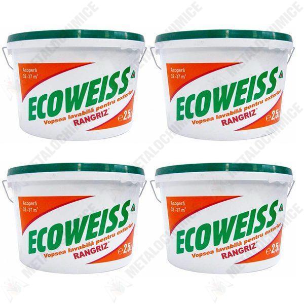 pachet-4-bucati-vopsea-lavabila-de-exterior-ecoweiss-2-5-l