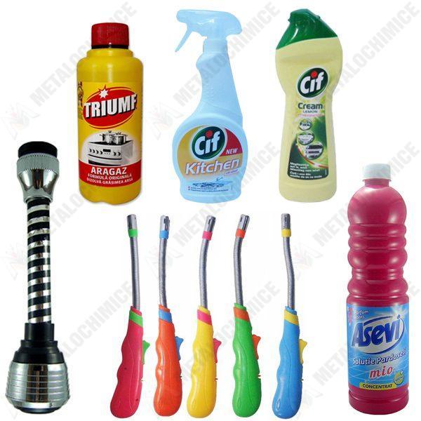 pachet-5-bucati-aprinzator-pentru-aragaz-cu-cap-flexibil-buton-pentru-aprindere-diverse-culori-asevi-pardoseli-1l-triumf-aragaz-375ml-cif-kitchen-500ml-cif-crema-250ml-perlator