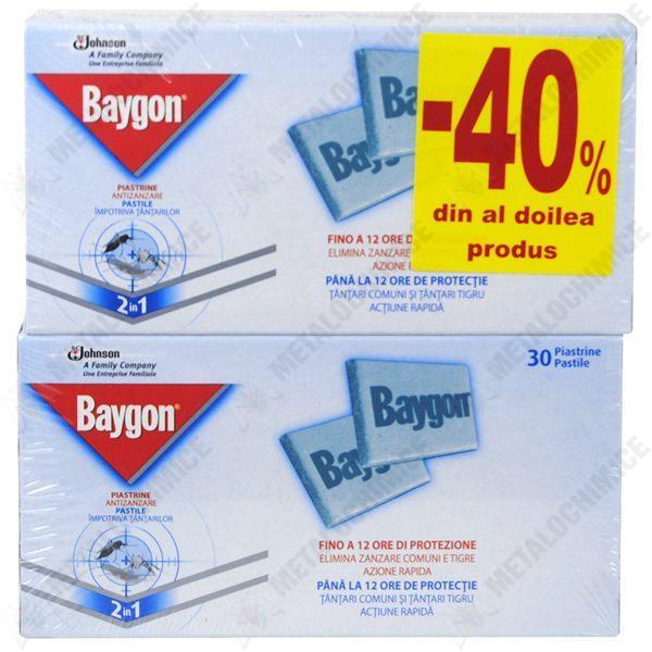 Pachet 5 bucati - Baygon pastile impotriva tantarilor, 5 x 60 pastile
