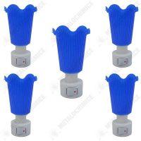pachet 5 bucati lampa de veghe albastra cu intrerupator lumina calda