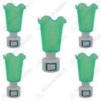pachet 5 bucati lampa de veghe verde cu intrerupator lumina calda