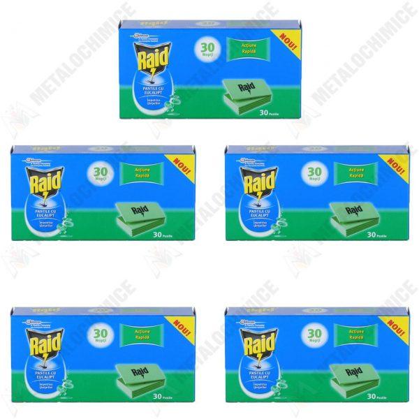 pachet-5-bucati-raid-30-de-nopti-pastile-pentru-aparat-electric-cu-eucalipt-impotriva-tantarilor-5-x-30-pastile