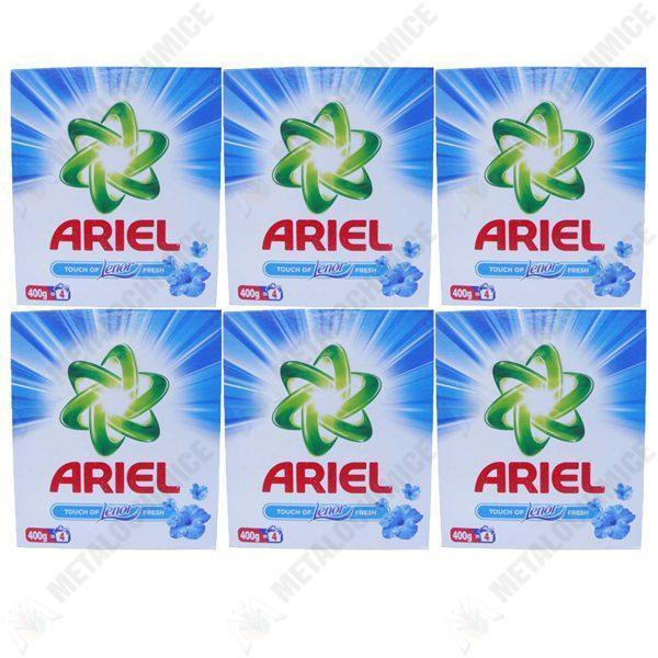 Pachet 6 bucati - Ariel touch of Lenor fresh, Detergent automat la cutie, 6 x 400 g
