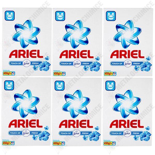pachet 6 bucati ariel touch of lenor fresh detergent manual la cutie 7 spalari 6 x 450 g
