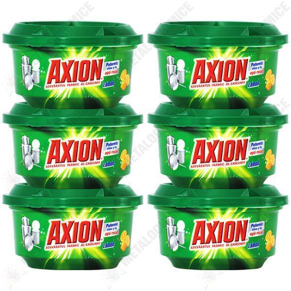 Pachet 6 bucati - Axion Lemon, Pasta pentru curatat vase, 6 x 400 g