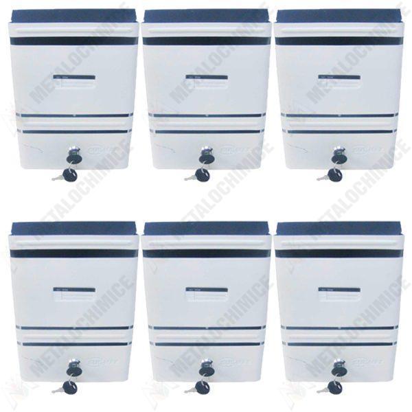pachet 6 bucati cutie scrisori postala alb