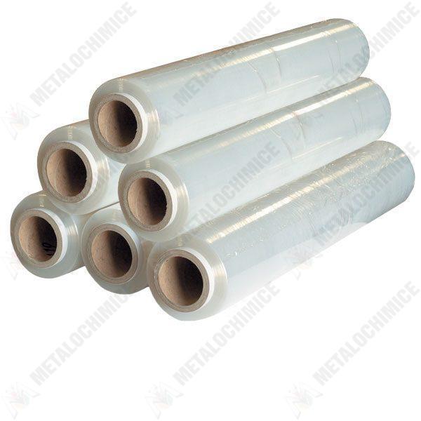 Pachet 6 bucati - Folie plastic stretch pentru paletizat, ambalare manuala, impachetat geamantane, infoliat paleti, 6 x 132m