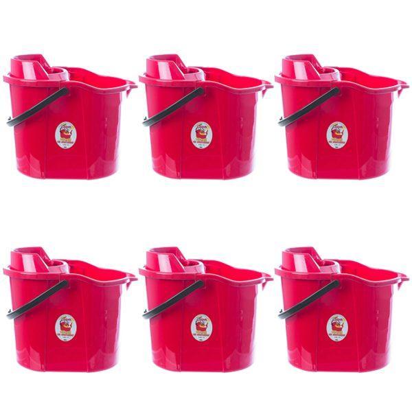 pachet 6 bucati galeata pentru mop cu storcator 15 l