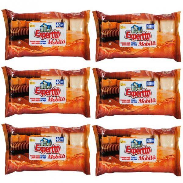 Pachet 6 bucati - Servetele, Prosoape umede pentru mobila, 40 Bucati/Set