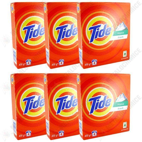 Pachet 6 bucati - Tide automat, Detergent pentru rufe la cutie, 6 x 400g