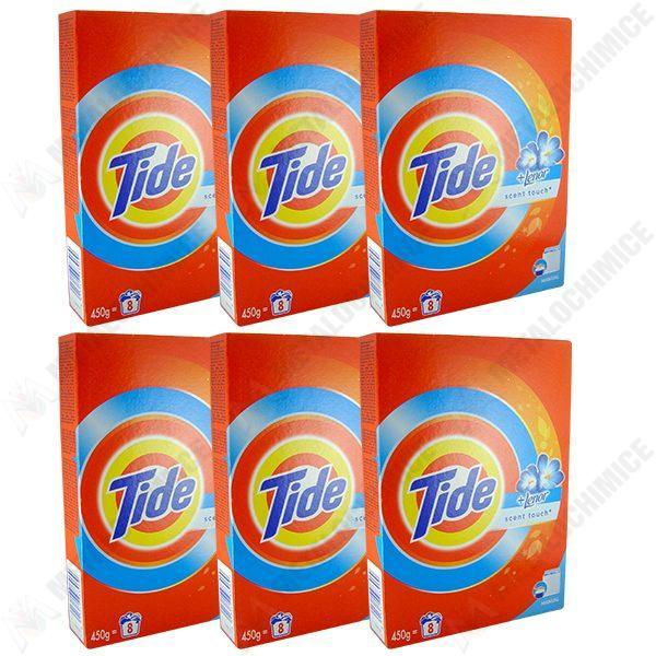 Pachet 6 bucati - Tide manual, Detergent pentru rufe la cutie, 6 x 450g