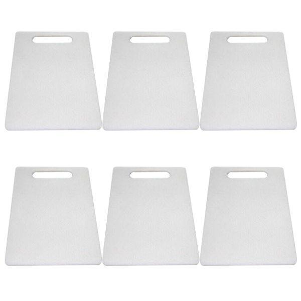 pachet 6 bucati tocator dreptunghiular din plastic 37 5 cm x 23 5 cm