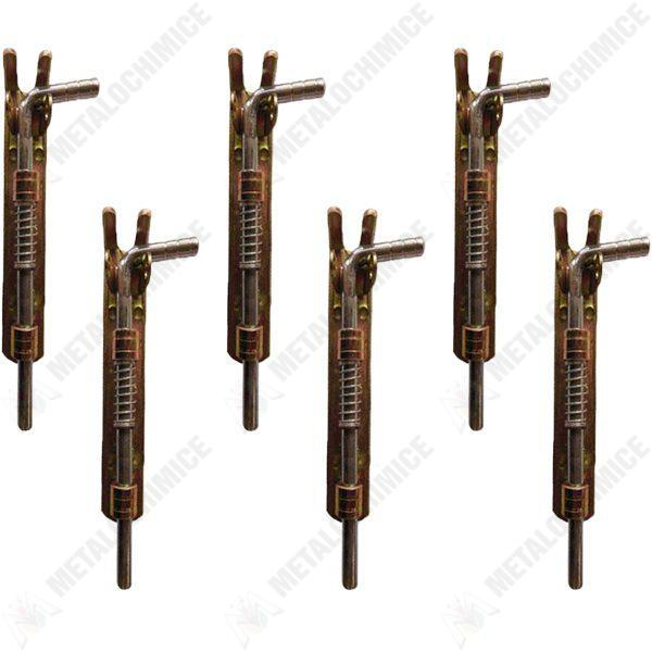 pachet 6 bucati zavor cu arc din fier 14cm x 16 5cm x 3cm