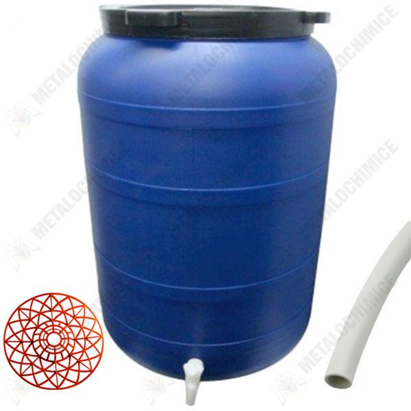 pachet butoi 200l cu robinet presa pentru butoi teava pentru suflat pitrocit 1