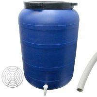 Pachet - Butoi 250L cu robinet, Plastic alimentar, Bidon cu capac prin infiletare   Presa rotunda pentru butoi 45cm   Teava pentru suflat / pitrocit  din categoria Menaj si uz casnic