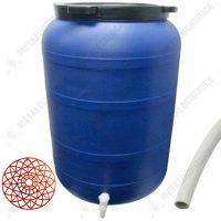 pachet butoi plastic cu robinet 250l presa rotunda teava pentru suflat pitrocit 1