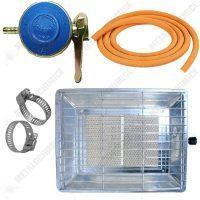 pachet soba nurgaz arzator pe gaz 3000w incalzitor 2 m furtun pentru gaz 2 x coliere pentru furtun ceas pentru butelie