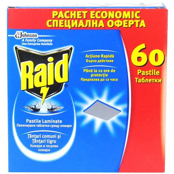 Pastile tantari raid 60 buc