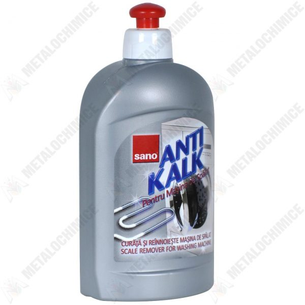 Pachet 3 bucati - Sano AntiKalk, Solutie anti calcar pentru masina de spalat, 3 x 500ml