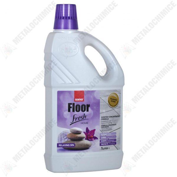 Pachet 6 bucati - Sano Floor Fresh 4 in 1, solutie curatat pardoseala cu miros de liliac, 6 x 1000ml