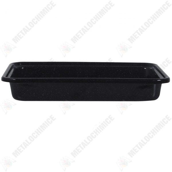 Tava de copt emailata, neagra, 30 cm  din categoria Tigai si tavi