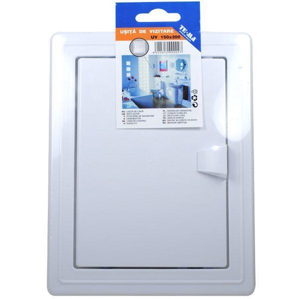 Pachet - 4 x TE-MA, Usita de vizitare, 150 x 200 mm + 2 x Den Braven, Silicon universal alb, 1001U, 280 ml