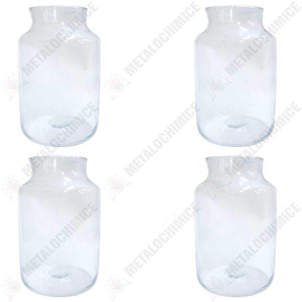 Pachet 4 bucati - Borcan din sticla cu gura mare 10 L