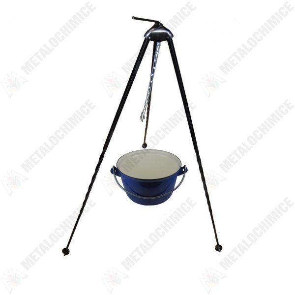 Pachet - Ceaun tuci , tabla groasa, 2.5 litri + Trepied pentru ceaun