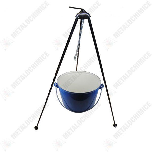 Pachet - Ceaun tuci , tabla groasa, 5 litri + Trepied pentru ceaun
