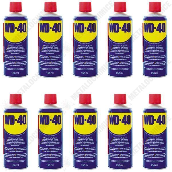 Pachet 10 bucati - Spray tehnic, Lubrifiant, WD-40, Multi-functional, 150 ml