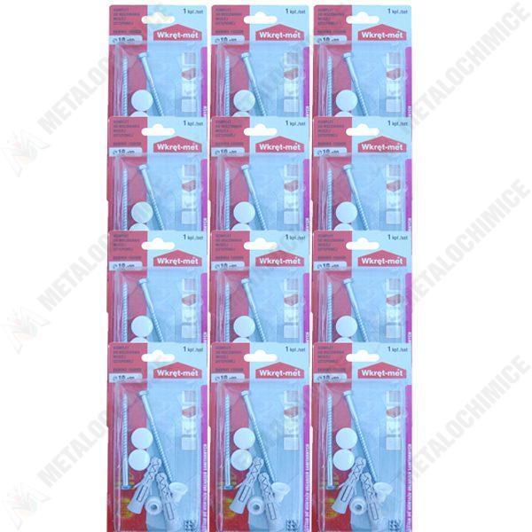 Pachet 12 bucati - Set dibluri, Pentru fixarea vasului de WC