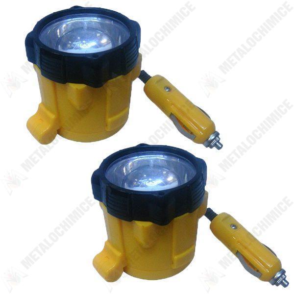 Pachet 2 bucati - Lanterna 12V, Auto, Magnet, Reglaj, 3M