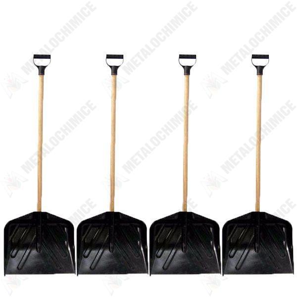 Pachet 4 bucati, Lopata din plastic cu coada si maner