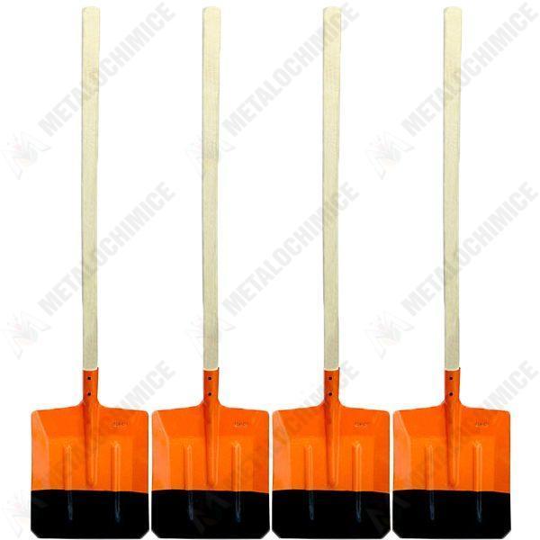 Pachet 4 bucati, Lopata ruseasca portocalie, Cu coada lunga