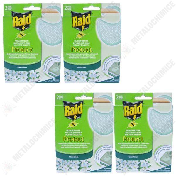 pachet 4 bucati raid anti molii protect
