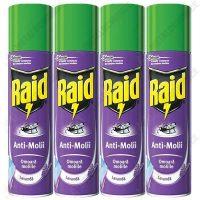 Pachet 4 bucati - Raid spray, Anti-molii, Lavanda, 4 X 400ml  din categoria Spray-uri Insecte