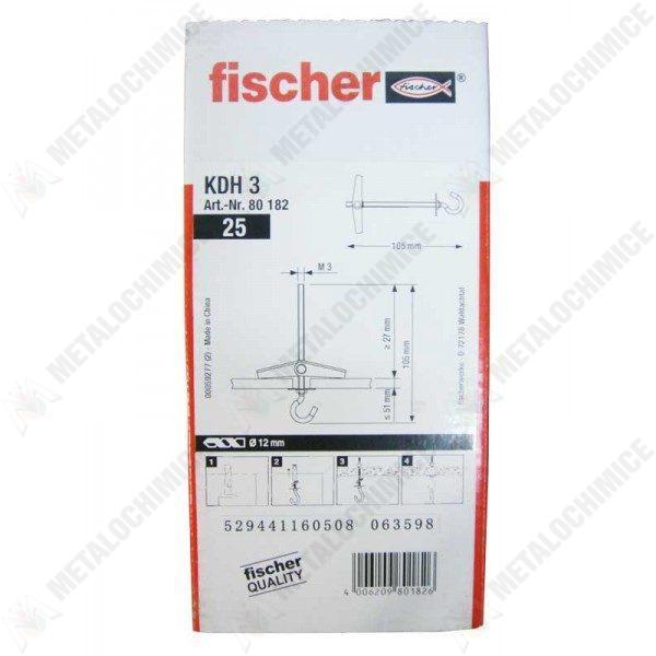 Pachet 4 cutii - Dibluri ancora, Fischer, Pentru rigips, 4 x 25 buc