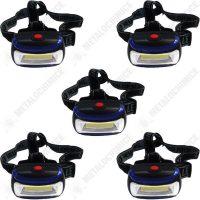 Pachet 5 bucati - Lanterna frontala, LED, mare  din categoria Lanterne puternice