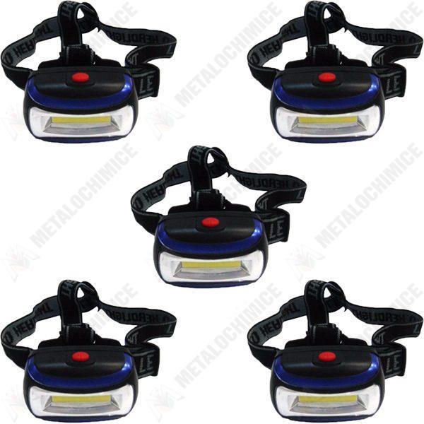 Pachet 5 bucati - Lanterna frontala, LED, mare
