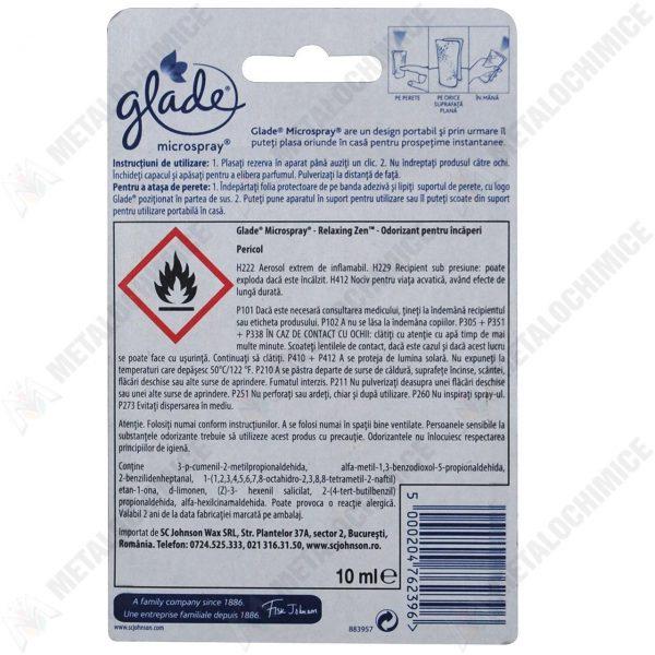 Glade microspray relaxin zen 10 ml