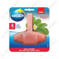 sano bon odorizant wc solid 4 actiuni parfum de capsuni 55g 1