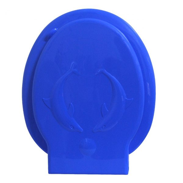 Capac wc albastru din plastic