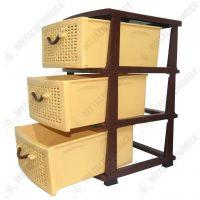 Dulap 3 sertare maro-crem  din categoria Diverse mobilier