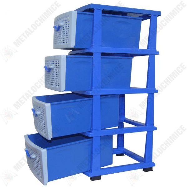 Dulap etajera 4 sertare Albastru